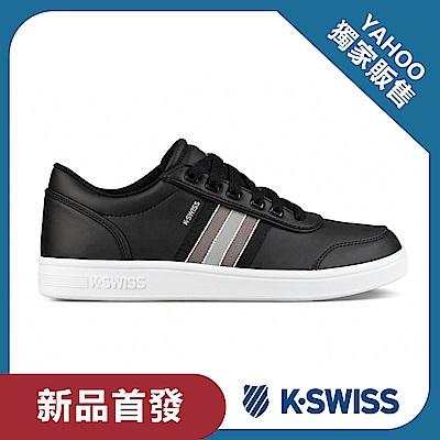 K-Swiss Court Clarkson S SE休閒運動鞋-男-黑/灰