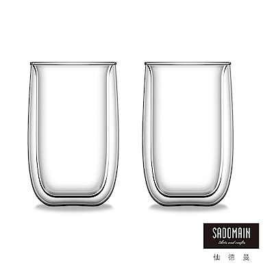 仙德曼SADOMAIN  雙層玻璃咖啡杯450ml (<b>2</b>入組)