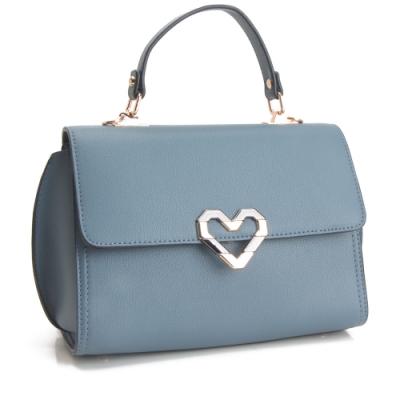 法國盒子 美型話題時尚三用包-藍色