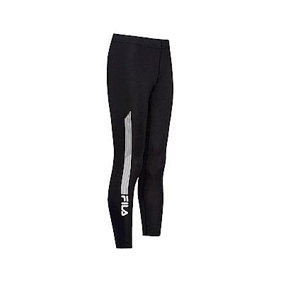 FILA 男款抗UV吸濕排汗長褲-黑色 1PNT-1307-BK