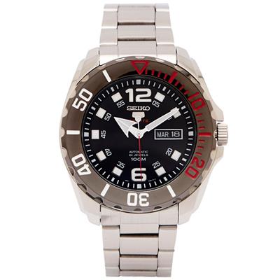 SEIKO  SPORTS系列五號機芯機械手錶(SRPB35K1)-黑面/44mm