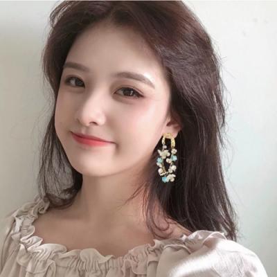 梨花HaNA 韓國925銀甜蜜物語藍色花園耳環