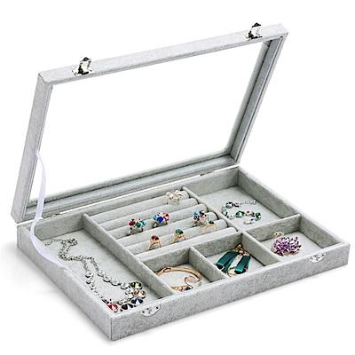 梨花HANA  超強收納冰花絨飾品收納盒/珠寶箱展示櫃
