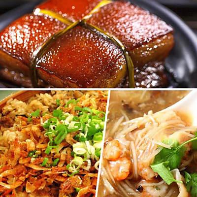 高興宴(大囍臨門)-新春開運年菜饗宴3道組-(東坡肉+櫻花蝦干貝米糕+干貝魚翅海鮮羹)