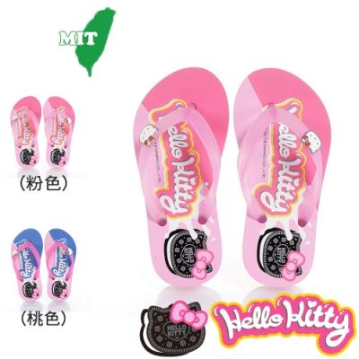(雙11)Hello Kitty童鞋 輕盈減壓夾腳海灘拖鞋-桃.粉