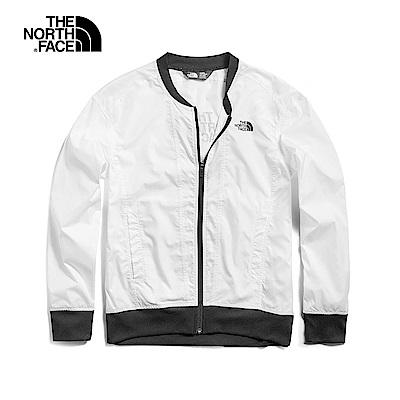 The North Face北面女款白色防潑水風衣外套|3V77FN4