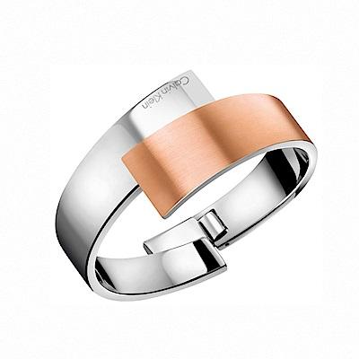 CALVIN KLEIN Intense系列經典雙色金個性手環-S / M手圍任選
