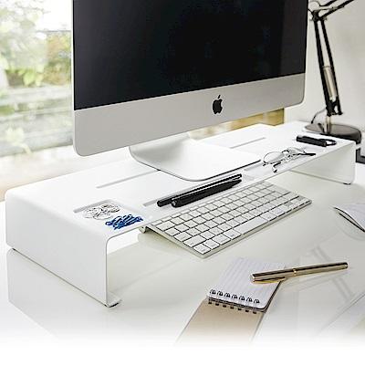 日本【YAMAZAKI】tower 桌上型螢幕置物架-白★置物架/收納架/辦公室用品/書房用品