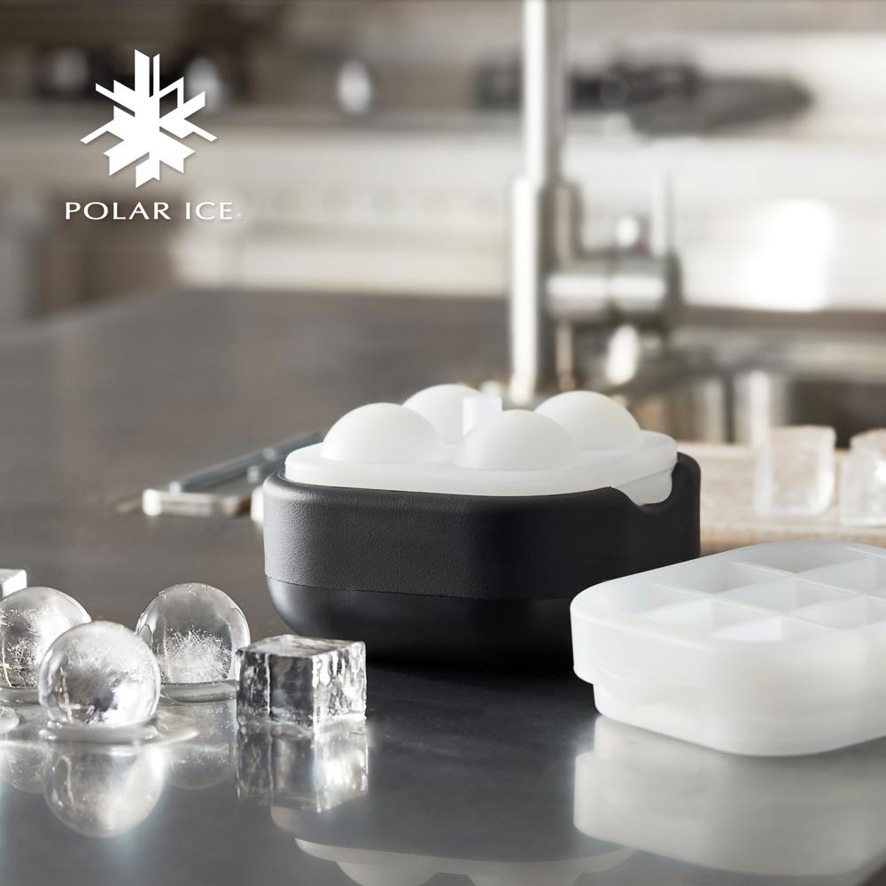 POLAR ICE 極地冰球 2.0方圓組(4球+方形製冰盒)