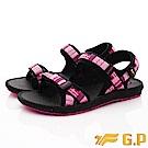 GP時尚涼拖  磁扣織帶涼鞋款-EI658W-15黑桃粉(女段)