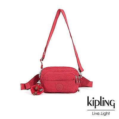 Kipling 燦爛緋紅兩用腰間側背包-MULTIPLE