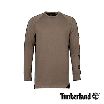 Timberland 男款灰褐色潮流圓領衛衣 A1NKM