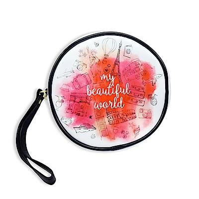 Elizabeth Arden 雅頓 環遊世界圓形化妝包