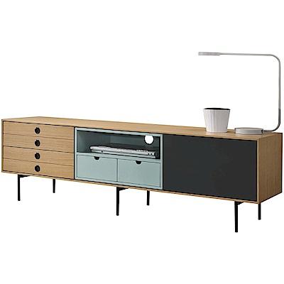 文創集 威廉時尚5.7尺木紋電視櫃/視聽櫃-170x40x52.5cm免組