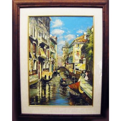 威尼斯水景 原作手繪 油畫掛畫壁飾