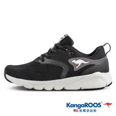 KangaROOS 美國袋鼠鞋 女 RUN SPRINT 超輕量慢跑鞋/運動鞋(黑-KW11011)