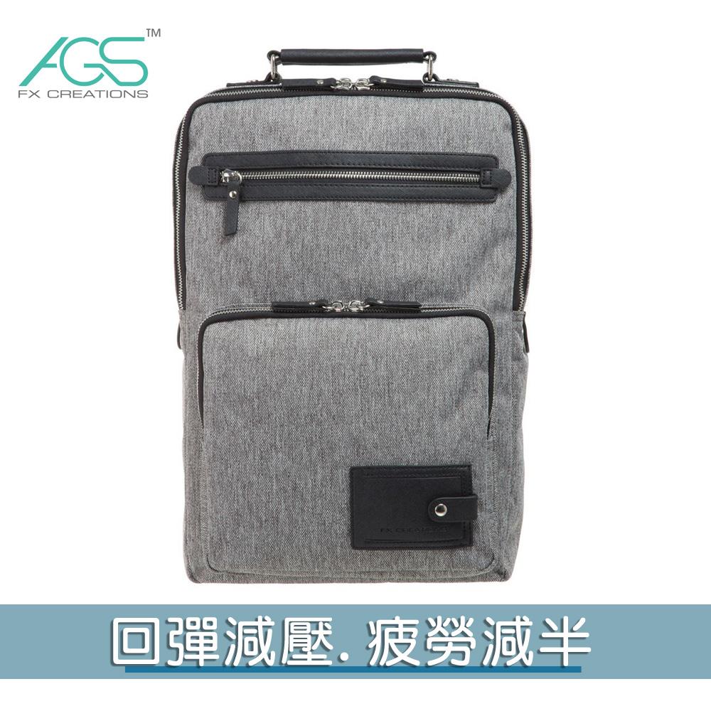 KAG-15.6吋AGS回彈減壓電腦背包-淺灰 KAG69637A-21