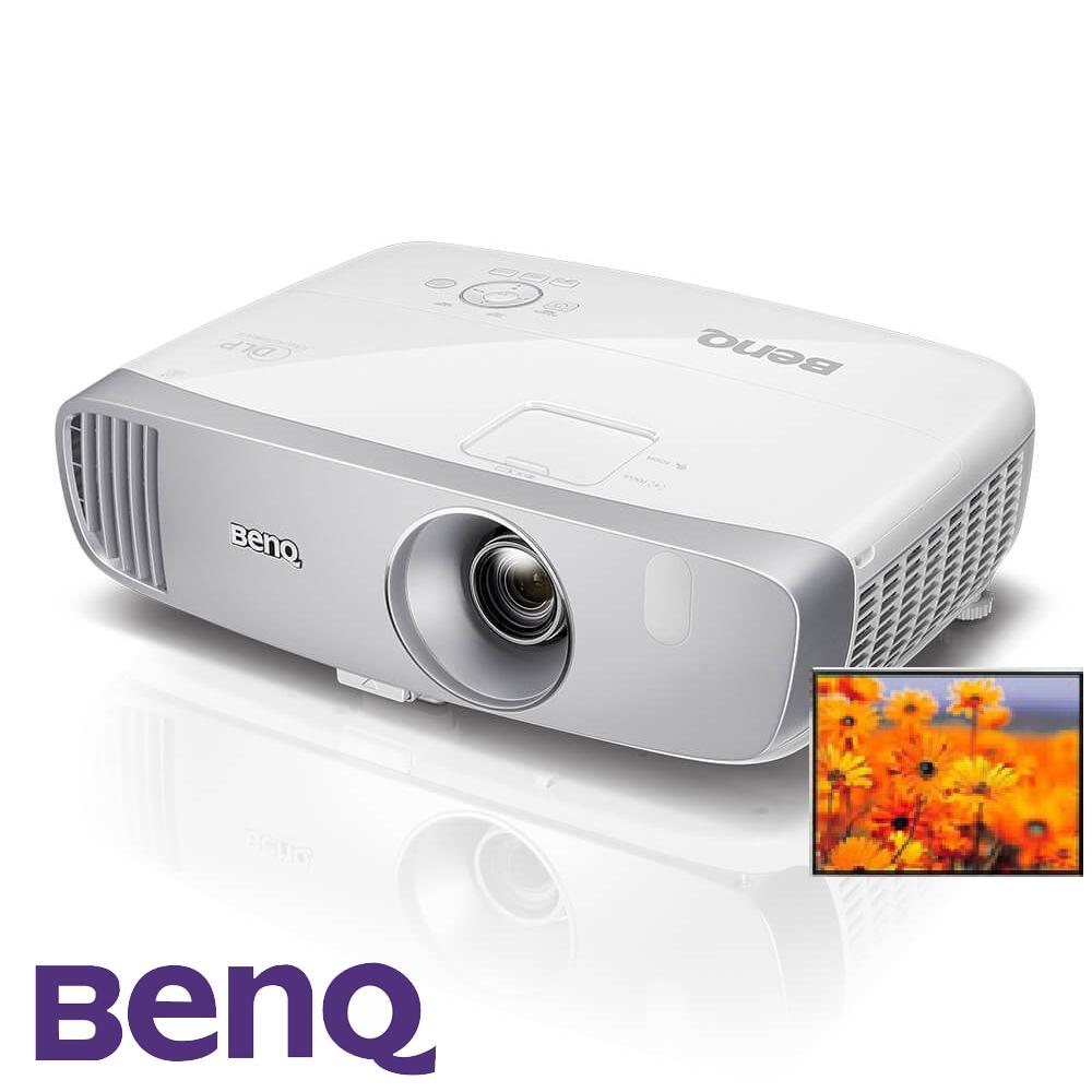 (鑑賞後送電動布幕)BenQ W1120 Full HD電玩側投色準三坪投影機(2200流明)