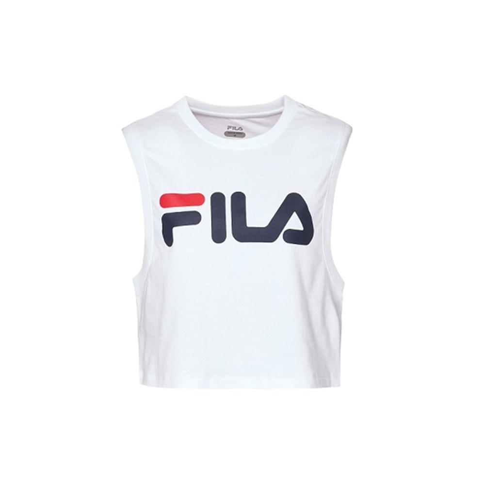 FILA 女 罩衫 無袖背心-白 5TKV-1313-WT