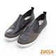 ZUCCA-雙色拼貼星星平底鞋-黑-z6820bk product thumbnail 1