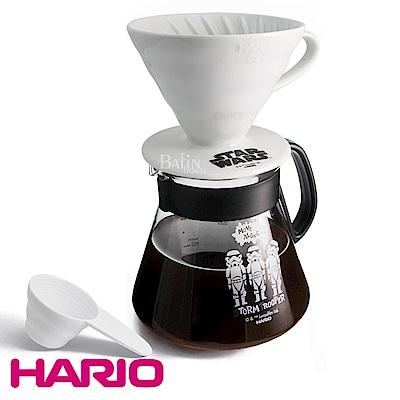 HARIO 星際大戰 4人份陶瓷濾杯咖啡壺組