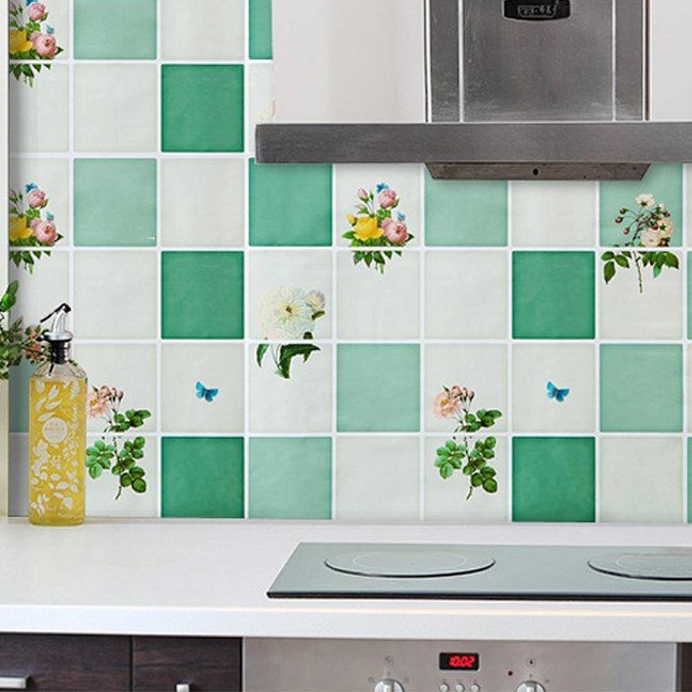 防油煙廚房磁磚壁貼紙(1張)