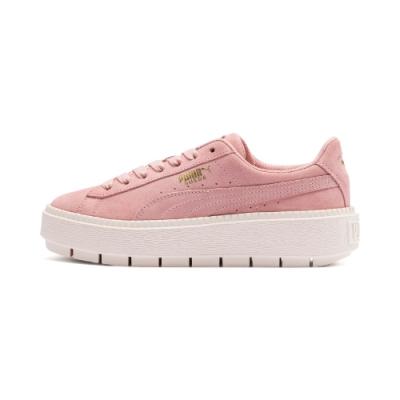 PUMA-Platform Trace 女性復古休閒鞋-新娘玫瑰