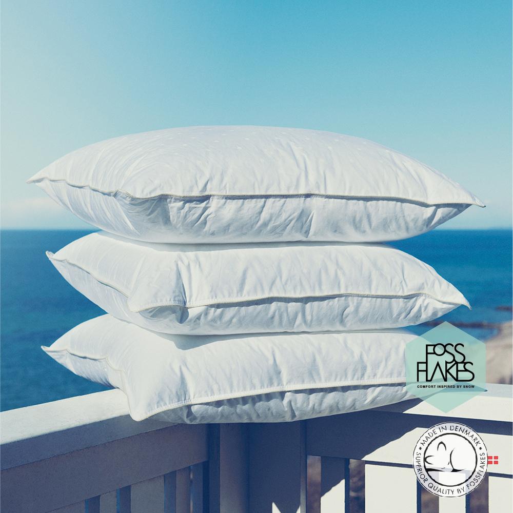 丹麥FOSSFLAKES防塵蟎優質中高枕 一入