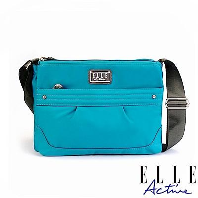 ELLE Active 優雅隨行系列-多夾層側背包/斜背包-藍綠色