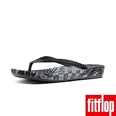 FitFlop IQUSHION FLIP FLOPS DAISY-PRINT-黑