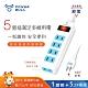 【POWER BULL動力公牛】PB-15-2 旗艦級1切5插2P延長線(2米) product thumbnail 1