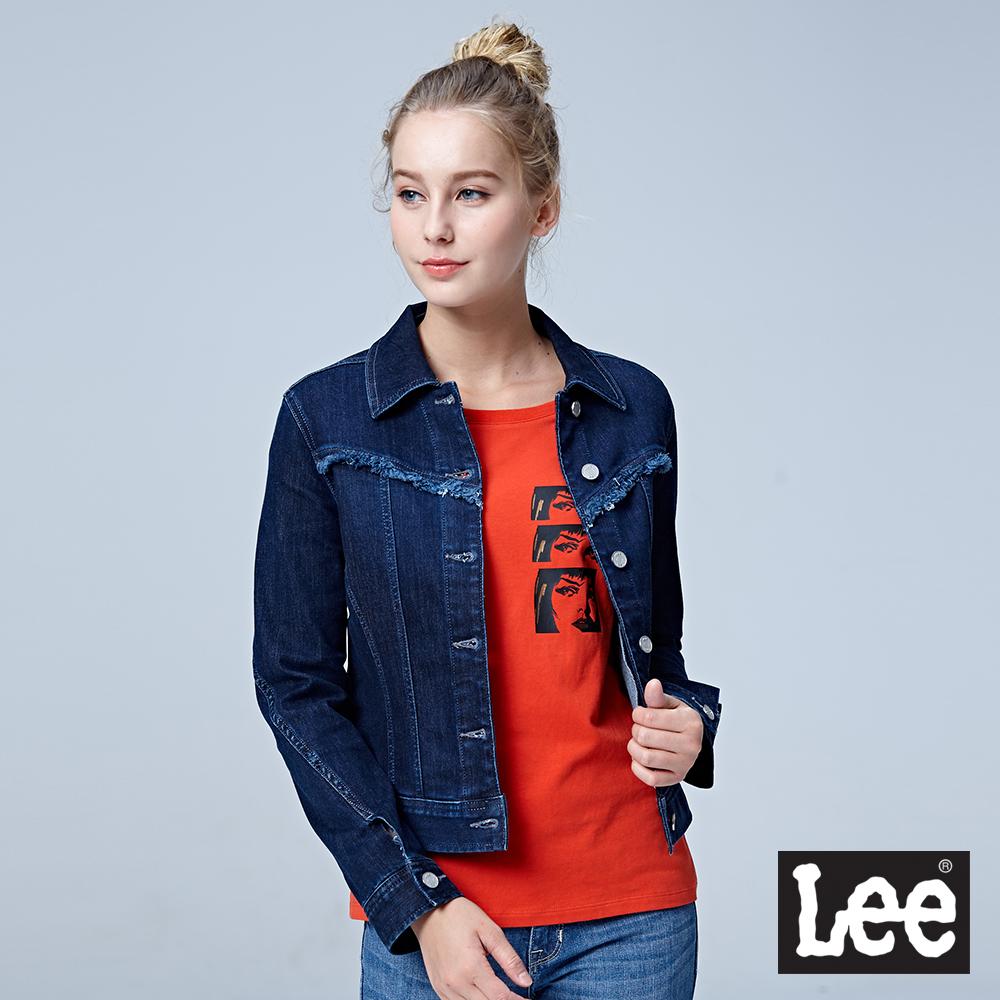 Lee 牛仔外套/BO-深藍色
