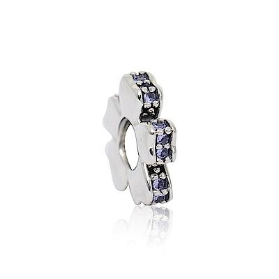 Pandora 潘朵拉 花卉紫水晶 純銀墜飾 串珠