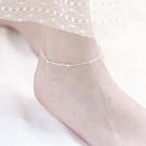 梨花HaNA 韓國925銀純銀小圓珠銀珠妝飾腳鍊