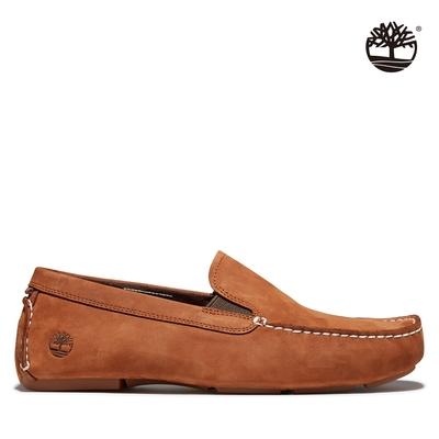 Timberland 男款棕色Heritage Driver EK+ 磨砂革休閒鞋|A2H8Y