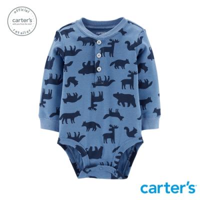 Carter's台灣總代理 森林動物印圖包屁衣