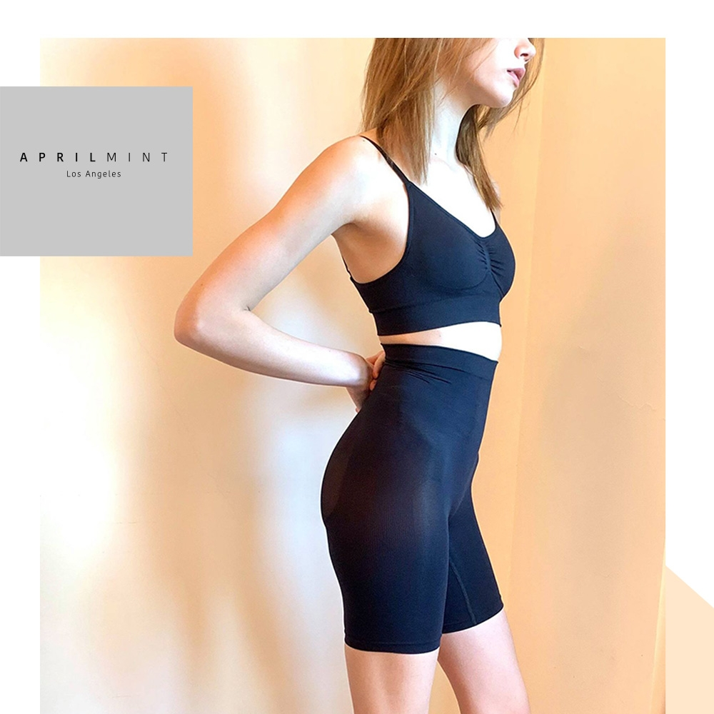 APRIL MINT Los Angeles Gina Power Shapewear 豐胸露背 翹臀纖腿 吸濕排汗 立體塑型 運動塑身 兩用組合-BRA TOP