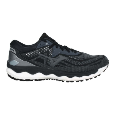 MIZUNO WAVE SKY 4 SW 男慢跑鞋-4E-寬楦 路跑 美津濃 J1GC201137 黑灰銀