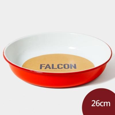 Falcon 獵鷹琺瑯 琺瑯圓形深盤 26cm 紅白