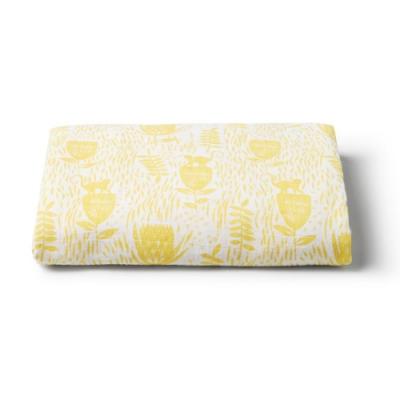 澳洲Wilson&Frenchy超柔包巾(1入)-黃色花紋WFS1822-06
