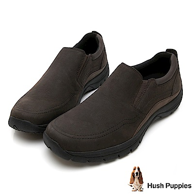 Hush Puppies BELSON 黃金大底休閒鞋-巧克力色