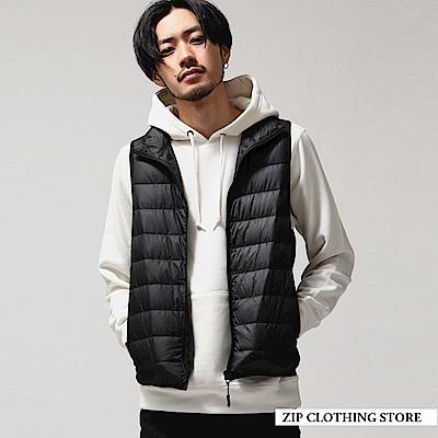 立領內搭羽絨背心(3色) ZIP日本男裝