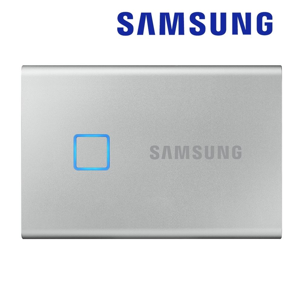 SAMSUNG 三星T7 Touch 500G USB 3.2 Gen 2移動固態硬碟 時尚銀 (MU-PC500S/WW)