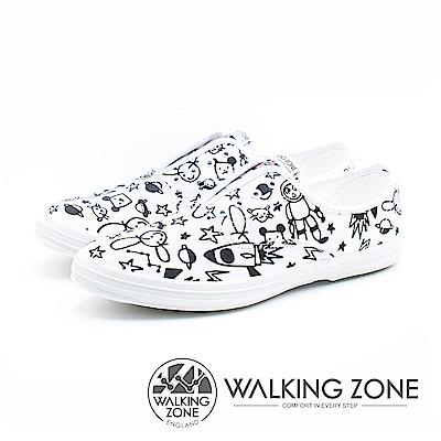WALKING ZONE X Kellykiw夢想太空人親子鞋- 塗鴉白