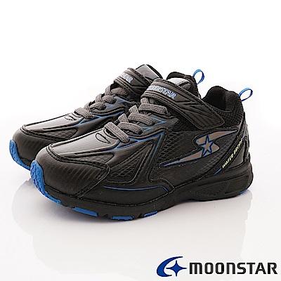 日本月星頂級競速童鞋 防水防滑系列 EI706黑(中大童段)