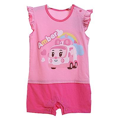 包屁衣 台灣製POLI安寶正版精梳純棉嬰兒連身衣 魔法Baby~k50532