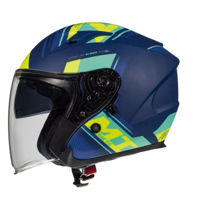 西班牙MTHELMETS MT安全帽 AVENUE sv SIDEWAY系列 消光藍黃