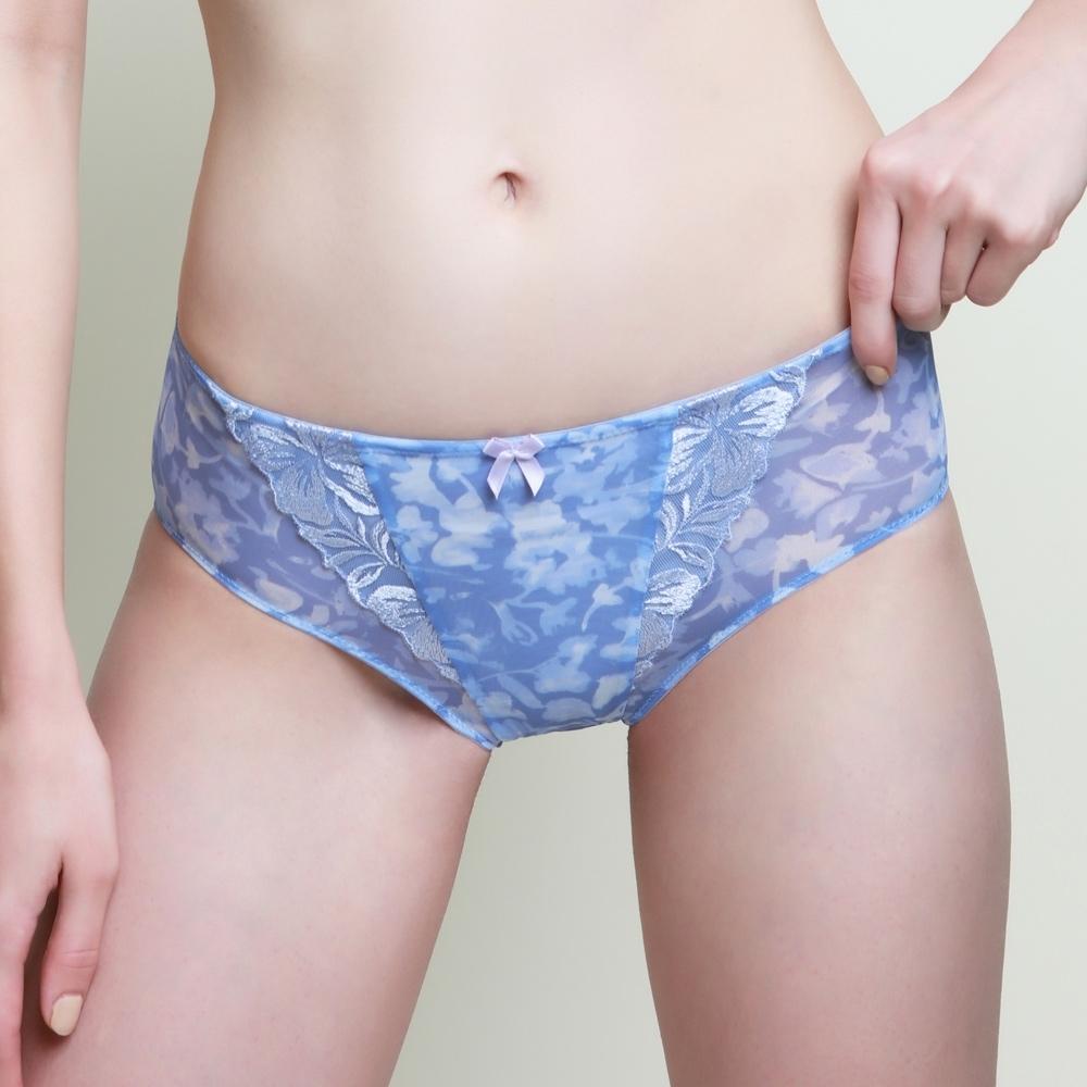 黛安芬-蝴蝶美型系列中腰內褲 M-EL 印花紫