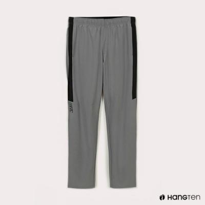 Hang Ten-男裝-恆溫多功能-REGULAR FIT標準四向彈力吸濕快乾抗曬撞色運動長褲-淺灰色