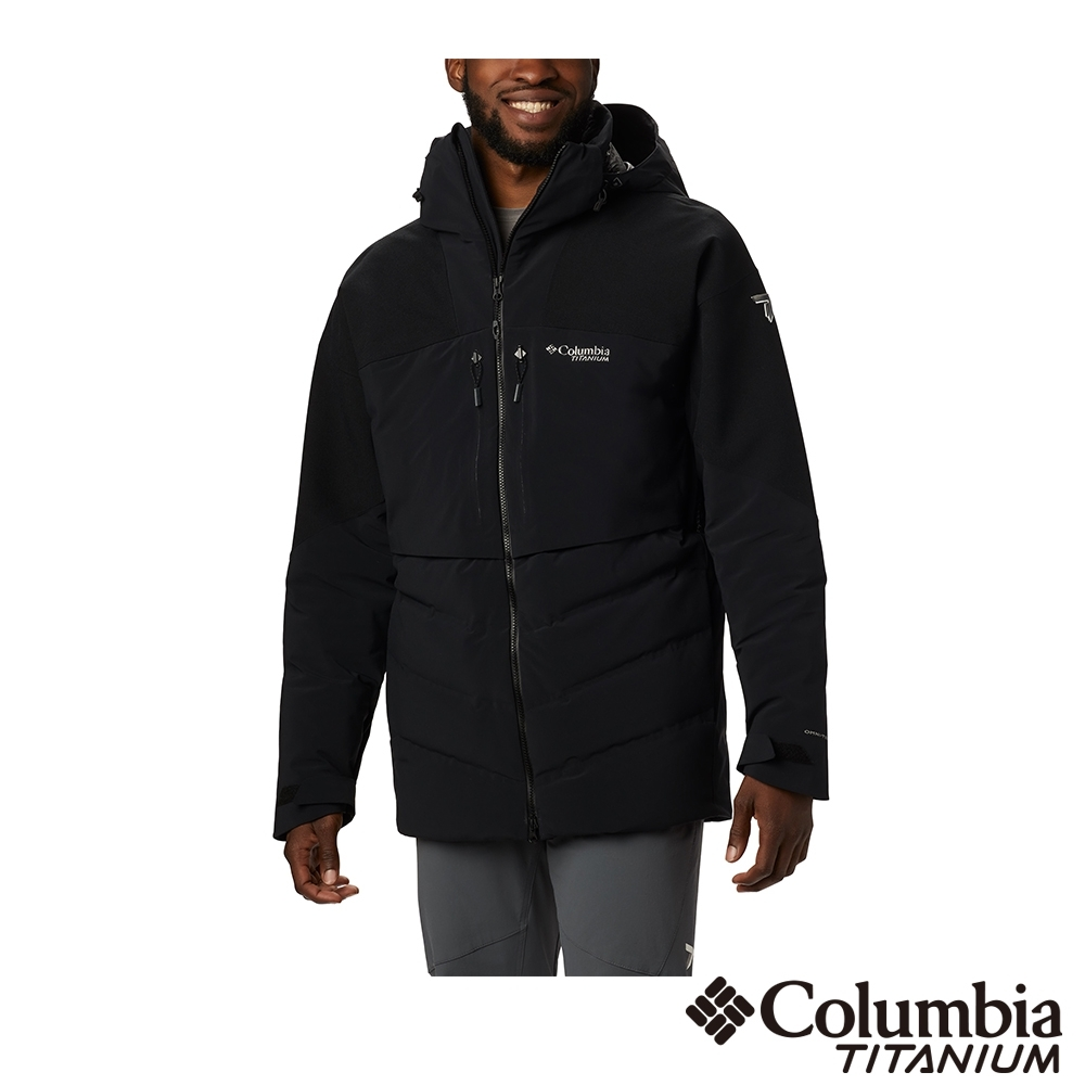 Columbia 哥倫比亞 男款- 鈦Omni TECH防水3D保暖羽絨外套-黑色
